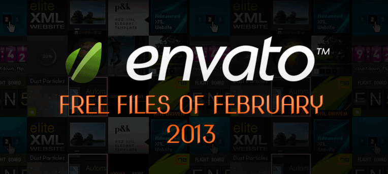 Envato Marketplace – Free Files of the February 2013