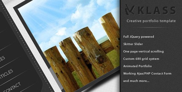 KLASS - Creative One Page Portfolio