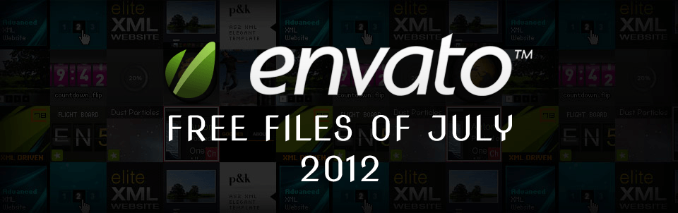 Envato Marketplace - Free Files of the July 2012