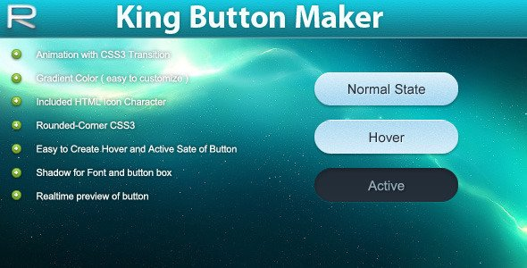 King Button Maker CSS3 - CodeCanyon Free File