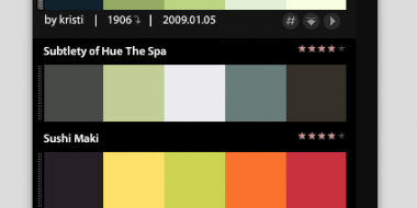 Using Adobe Kuler to find and create various color schemes