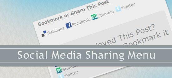 Social Media Sharing Menu