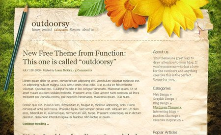 Outdoorsy Theme