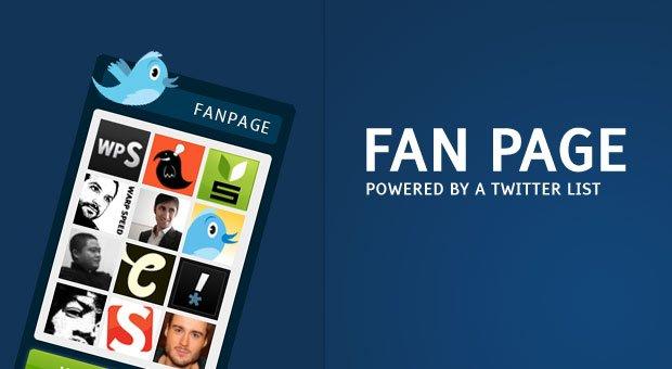 A Twitter List Powered Fan Page