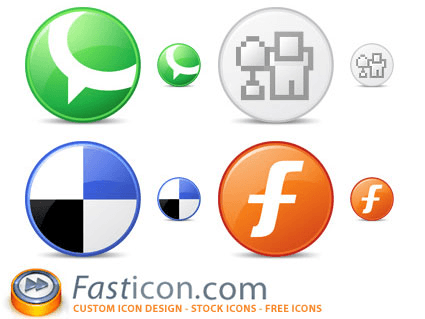 FastIcon Circle Social Bookmark Icons