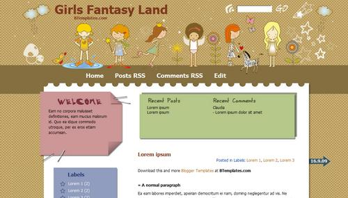 Girls Fantasy-Land Wordpres Theme