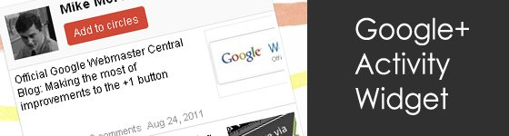 Google+ Activity Widget