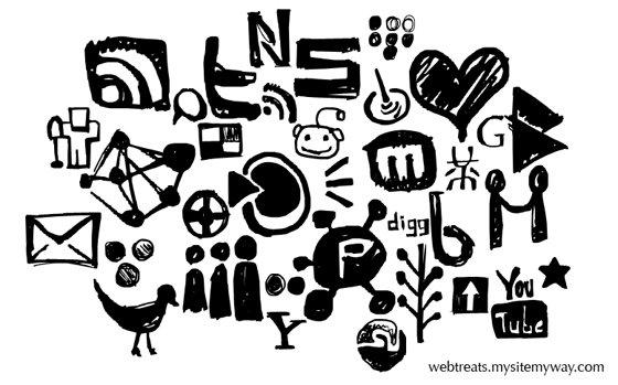 Hand Drawn Social Media Shapes