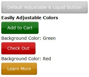 Liquid & Color Adjustable CSS Buttons