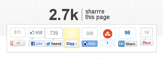 Sharrre - A plugin for sharing buttons