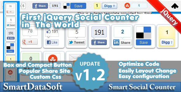 Smart Social Counter jQuery Plugin