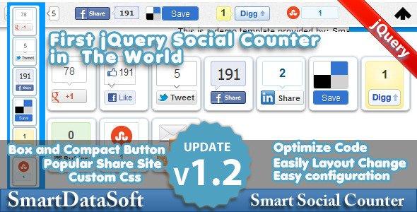 Smart Social Counter jQuery Plugin
