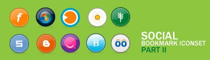 Social Bookmark Icons set II