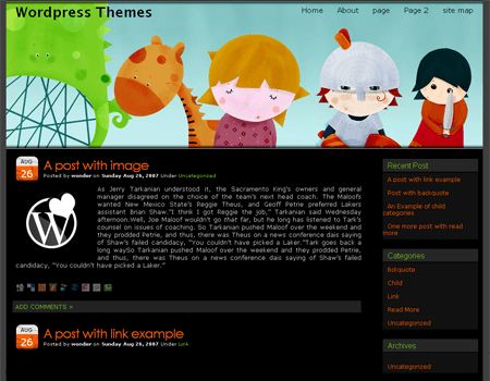 Girl WordPress Theme