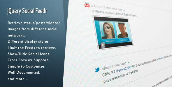 jQuery Social Feedr
