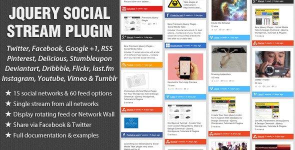 jQuery Social Stream