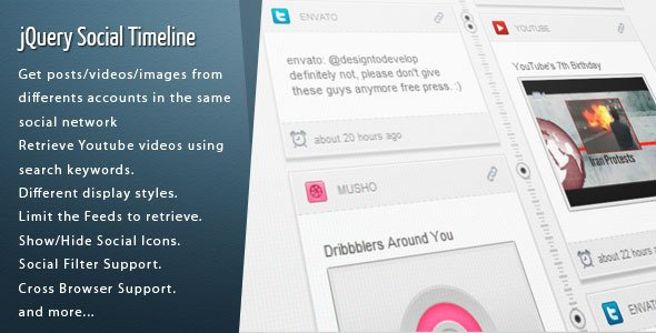 jQuery Social Timeline