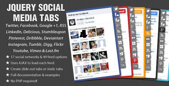 jQuery Social Media Tabs