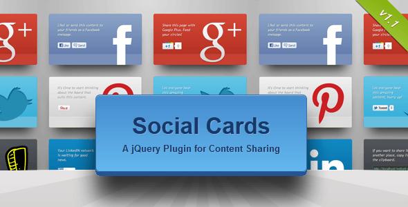 Social Cards jQuery Plugin