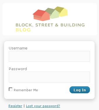 Block, street & building blog