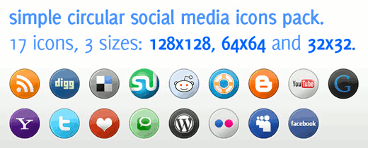 BlogPerfume Social Media Icons Pack