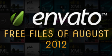 Envato Marketplace – Free Files of the August 2012