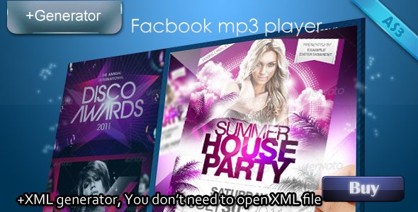 Facebook mp3 player with XML generator
