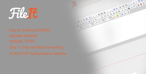 FileIt - HTML to Word/PDF