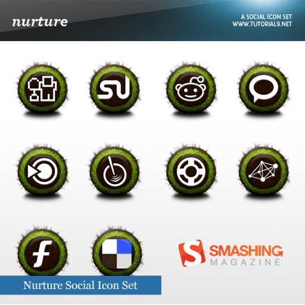 Nurture Social Media Icons Set