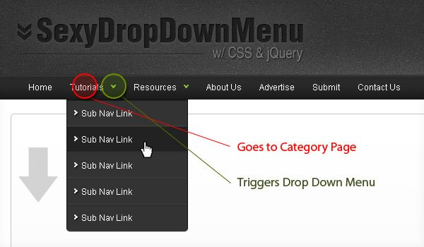 Sexy Drop Down Menu w/jQuery & CSS