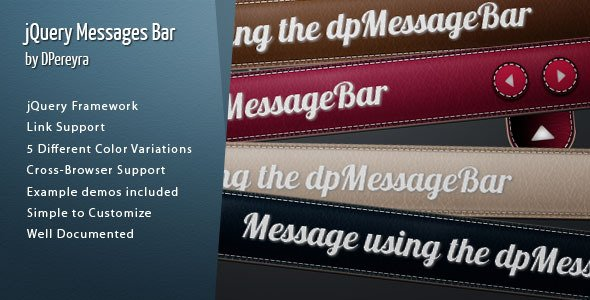 jQuery Message Bar