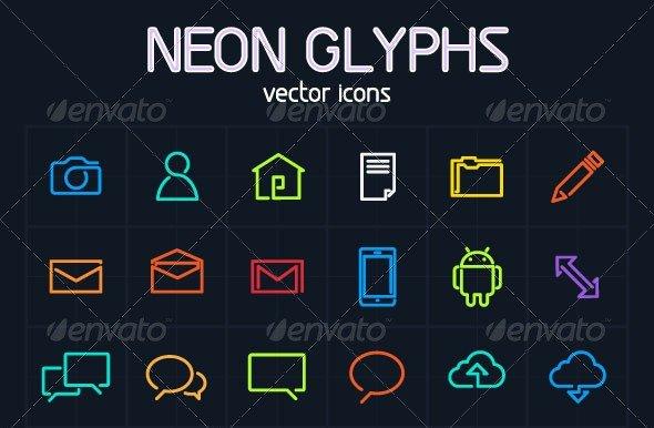 Neon Glyph Vector