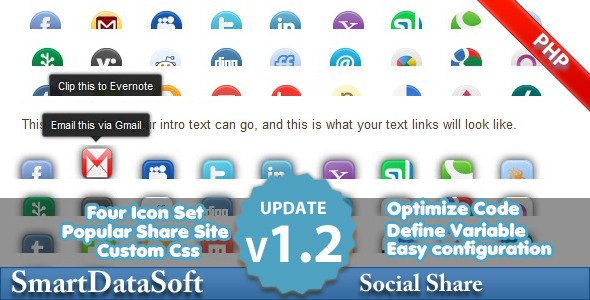 Php Smart Social Share