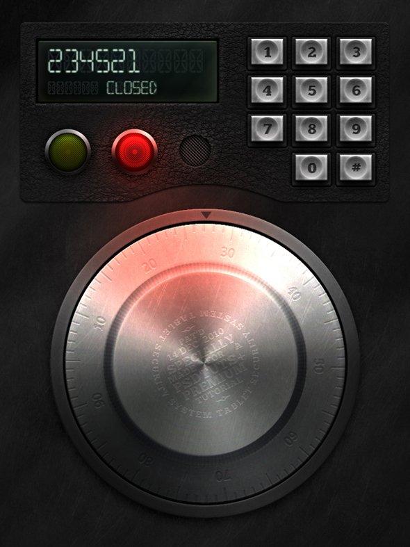 Retro Electronic Safe Lock Interface