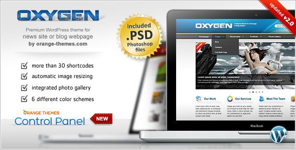Oxygen - Premium Portfolio, Business & Blog Theme