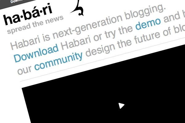 Habari is next-generation blogging