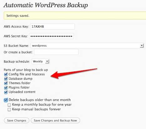 Automatic WordPress Backup