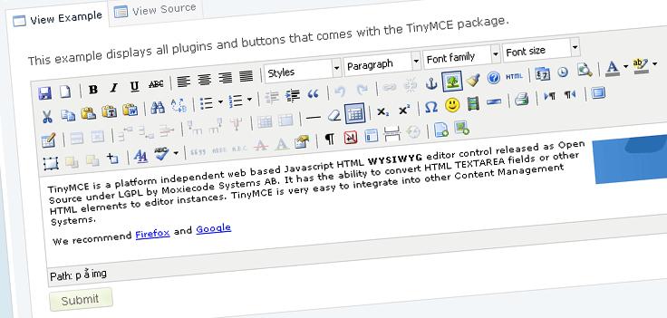 TinyMCE – Javascript WYSIWYG Editor