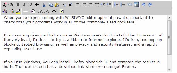 Wyzz WYSIWYG Editor