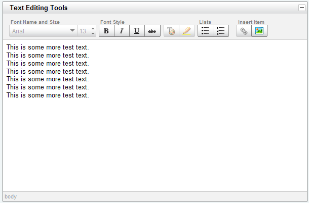 YUI Library Rich Text Editor