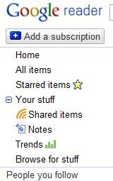 Sharing Stuff with Google Reader