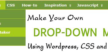 Make your own Wordpress Drop-Down menu