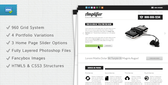 Amplifier Business & Portfolio Template