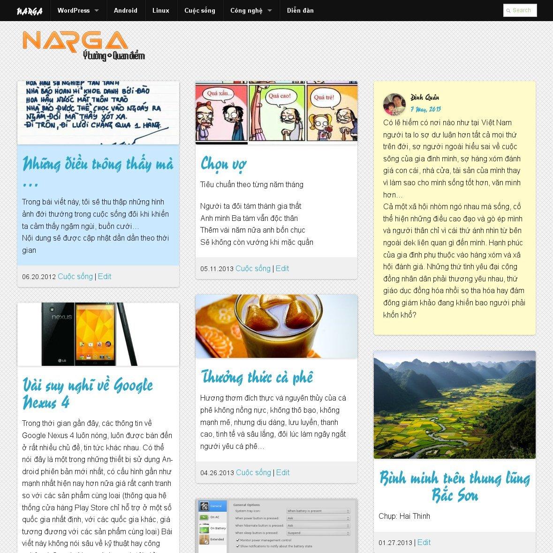 NARGA CORE WordPress Theme Framework - NARGA