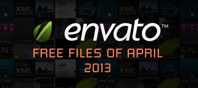 Envato Marketplace – Free Files of the April 2013