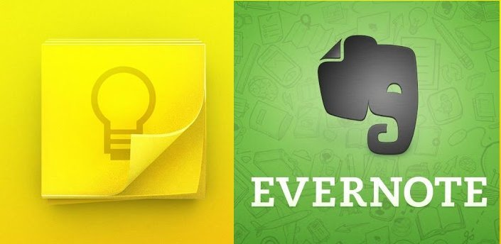 Google Keep & Evernote
