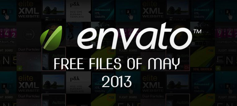 Envato Marketplace – Free Files of the May 2013