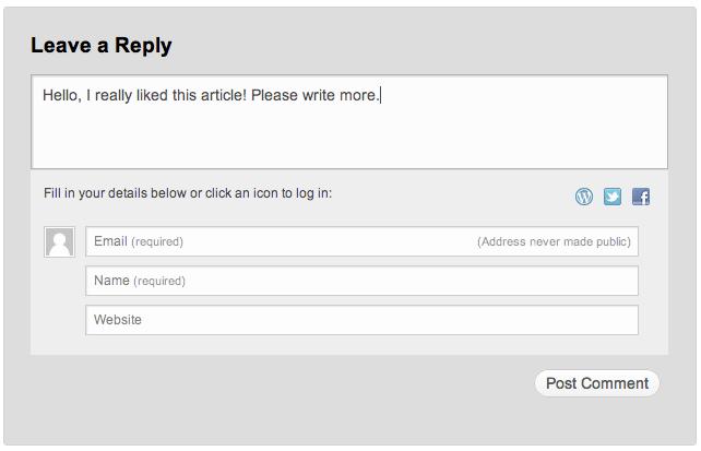 Jetpack Comments