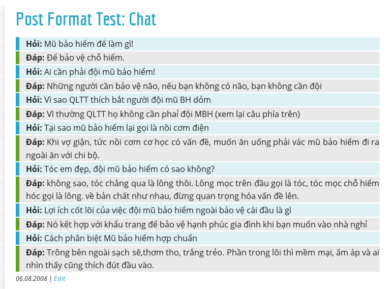 Post Format Test Chat