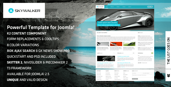 Skywalker - Powerful Template for Joomla